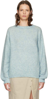 Acne Studios Blue Mohair Dramatic Sweater