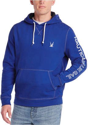 Nautica Men Blue Sail Active Knit Hoodie