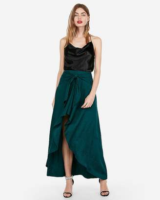 7c0fdbe190 Express Floral High Waisted Ruffle Maxi Dress