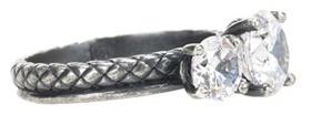 Bottega VenetaBottega Veneta Zirconia-embellished silver ring