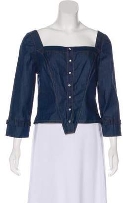 Anna Sui Chambray Long Sleeve Top