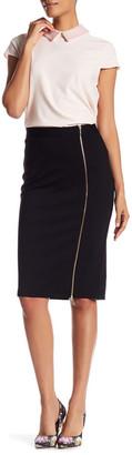 Catherine Catherine Malandrino Zipper Trim Midi Skirt $68 thestylecure.com