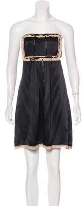 Betsey Johnson Strapless Silk Dress w/ Tags