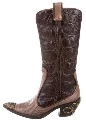 Giuseppe Zanotti Embossed Western Boots
