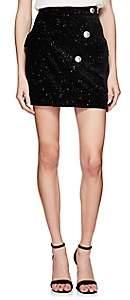 Balmain Women's Velvet Miniskirt - Black