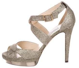Jimmy Choo Kuki Glitter Sandals