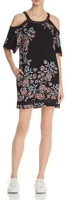 Ella Moss Floral Cold-Shoulder Dress $198 thestylecure.com