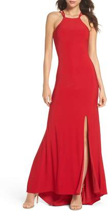 Morgan & Co. Strappy Trumpet Gown