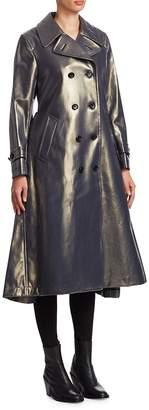 Comme des Garcons Women's Laminate Denim Trench Coat