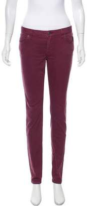 Burberry Mid-Rise Skinny Pants