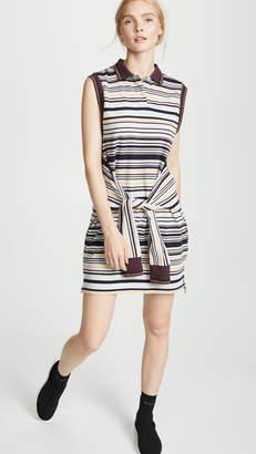Alexander Wang Sleeveless Tie-Front Polo Dress