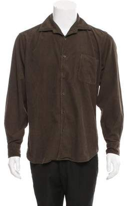 Malo Corduroy Button-Up Shirt