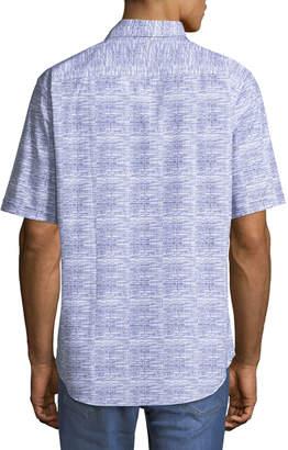 Bugatchi Classic-Fit Short-Sleeve Linen Sport Shirt