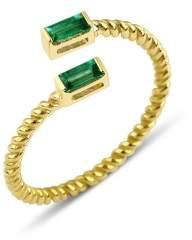 Black Diamond GFG Jewellery Lara Double Twist Ring