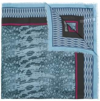 Roberto Cavalli mesh print scarf