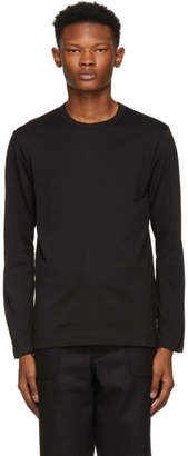 Comme des Garcons Black Basic Logo Long Sleeve T-Shirt