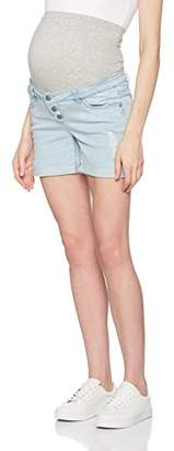 Mama Licious Mamalicious Women's Mlali Comfi Denim Shorts,32W