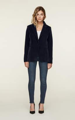 Soia & Kyo EMMY slim fit velvet blazer with notch collar