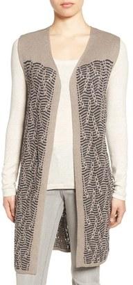 Women's Nic+Zoe 'Traveling Cables' Long Sweater Vest $168 thestylecure.com