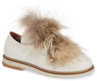 Sheridan Mia Timothee Genuine Fox Fur Flat