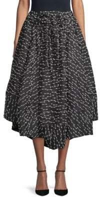 Rosie Assoulin Classic Printed Skirt