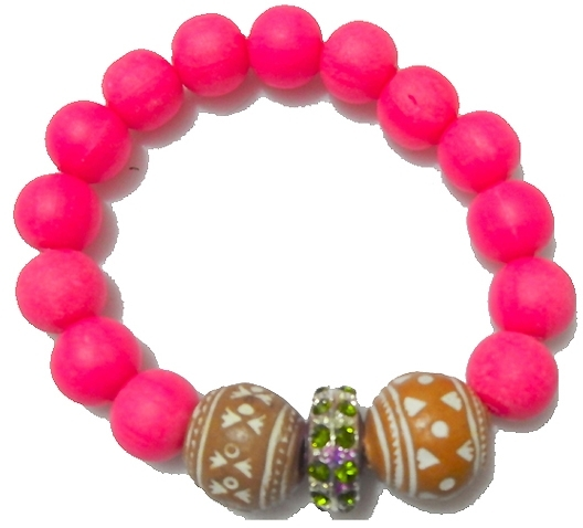 Jewels by Dunn Nude Neon Pink Bracelet