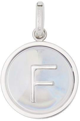 Burberry Marbled Resin 'F' Alphabet Charm