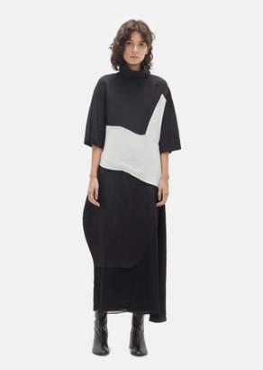Acne Studios Dilona Patchwork Turtleneck Dress Black