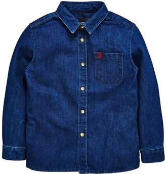 Farah Holmbrook Denim Long Sleeve Shirt