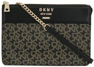 DKNY logo cross body bag