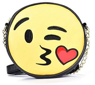 Emoji Kiss Face Crossbody Handbag With Shoulder Chain Strap