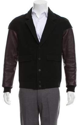 Alexander Wang Leather-Accented Notch-Lapel Jacket