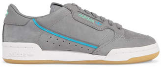 adidas + Tfl Continental 80 Canvas-trimmed Leather And Suede Sneakers - Gray