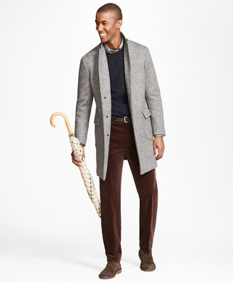 Brooks Brothers Herringbone Knit Topcoat