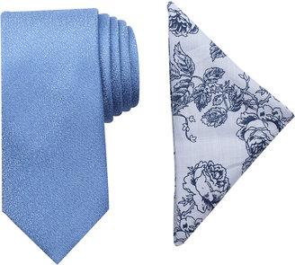 Tallia Men's Bedford Solid Slim Tie & Pocket Square Set $65 thestylecure.com