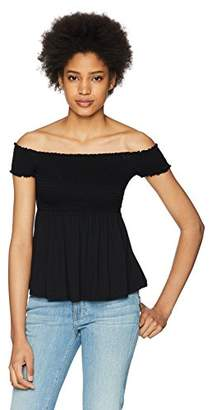 Three Dots Women's Refined Jersey Short Loose Smock Top