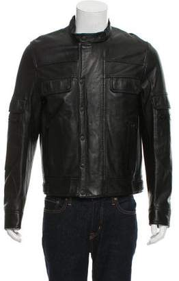 Christian Dior Leather Zip-Up Jacket