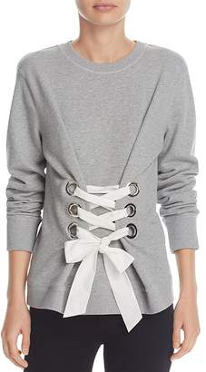 Derek Lam 10 Crosby Lace-Up Sweatshirt