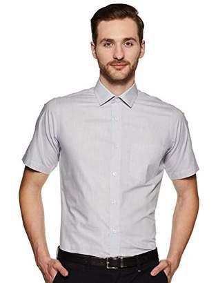 Shaftesbury London Men's Regular Fit Short Sleeves Spread Collar Dress Shirt