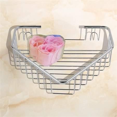 MORE Stainless Steel Shower Basket Corner Bathroom & Kitchen Shelf Tidy Rack