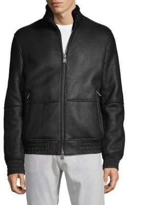 HUGO BOSS Carim Lambskin & Shearling Jacket