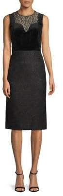 Lanvin Lace-Paneled Knee-Length Dress