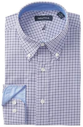 Nautica Amethyst Small Tattersall Traditional Fit Dress Shirt
