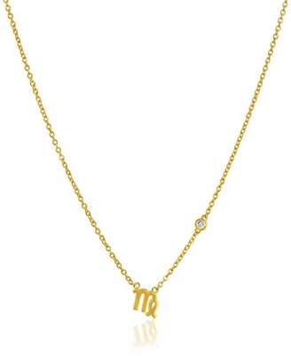 Shy by SE Virgo Zodiac Necklace with Diamond Bezel