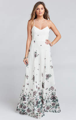 Show Me Your Mumu Godshaw Goddess Gown ~ Floral Falls