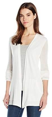 Jones New York Women's Mesh Sleeve Sweater Cardi