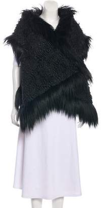 Stella McCartney Textured Faux Fur Vest
