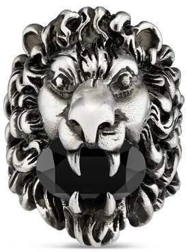 Gucci (グッチ) - スワロフスキー クリスタル付き ライオンヘッド リング