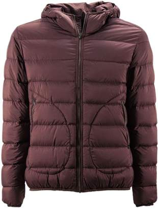 Herno Bordeaux Feather Down Hooded Padded Jacket.