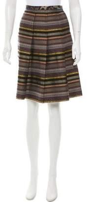 Pollini Patterned Knee-Length Skirt